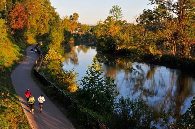 Roanoke River Greenway Fall