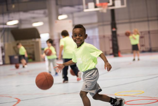 Youth Basketball Player at Total Sports Experience