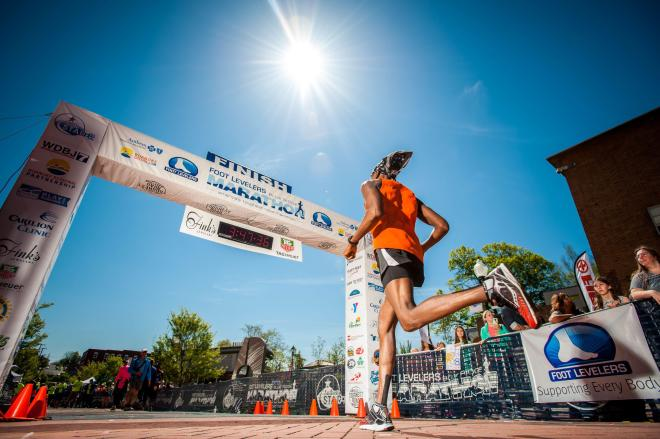 Blue Ridge Marathon Finish Line