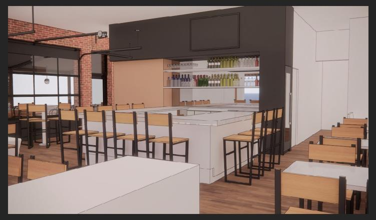 Crawford's Cookshop Design Software Rendering Concept Bar