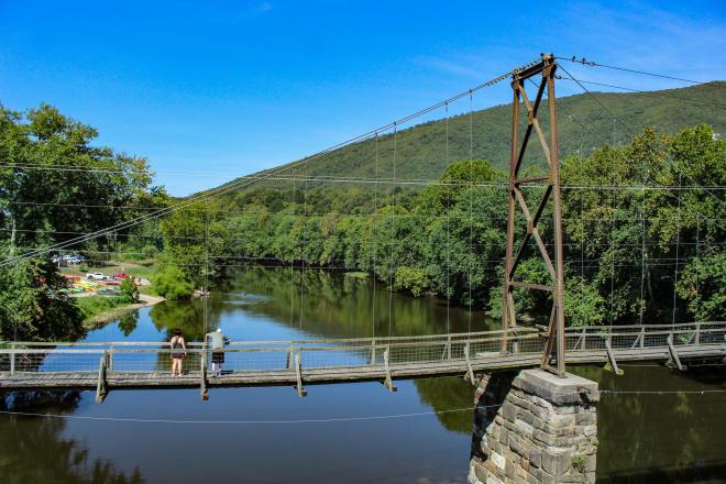 Buchanan Swinging Bridge - James River - Virginia