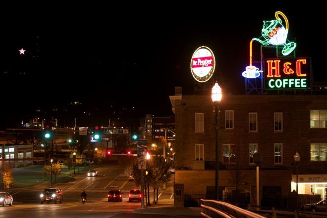 Downtown Roanoke Neon Signs