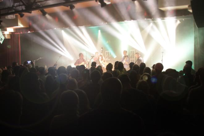 Band On Stage And Crowd At Harvester Performance Center In Rocky Mount, VA