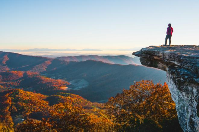 McAfee Knob - Fall - Blue Ridge Mountains