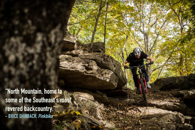 North Mountain, home to some of the Southeast's most revered backcountry quote by Brice Shirbach