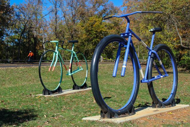 Bicycle Sculptures - Mill Mountain - Roanoke, VA