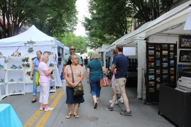 Sidewalk Art Show - Roanoke, VA