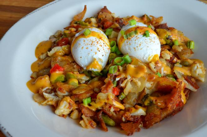 Iron Rooster restaurant crab hash.