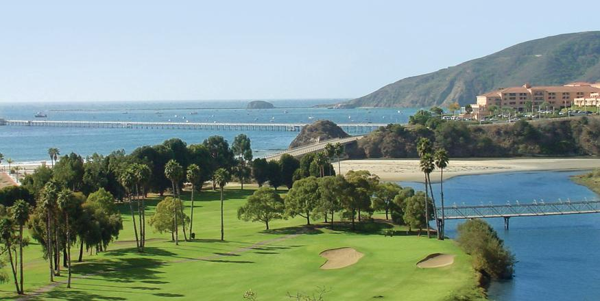 Aerial view of Avila Beach Golf Resort