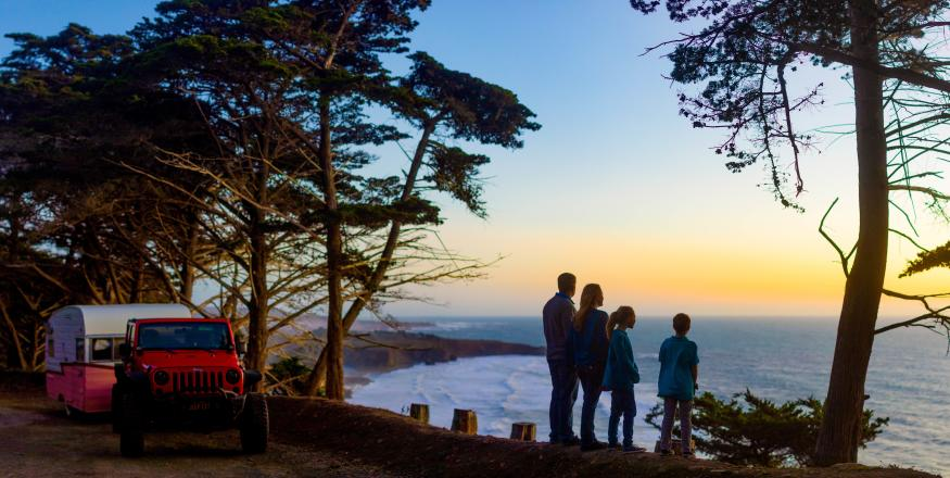 Family overlooking Ragged Point