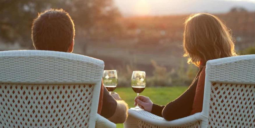 couple drinking wine in Arroyo Grande