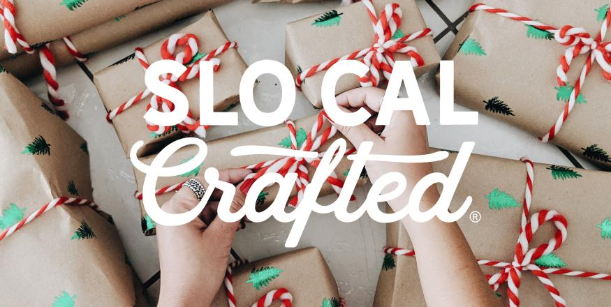SLO CAL Crafted tying ribbons on gifts