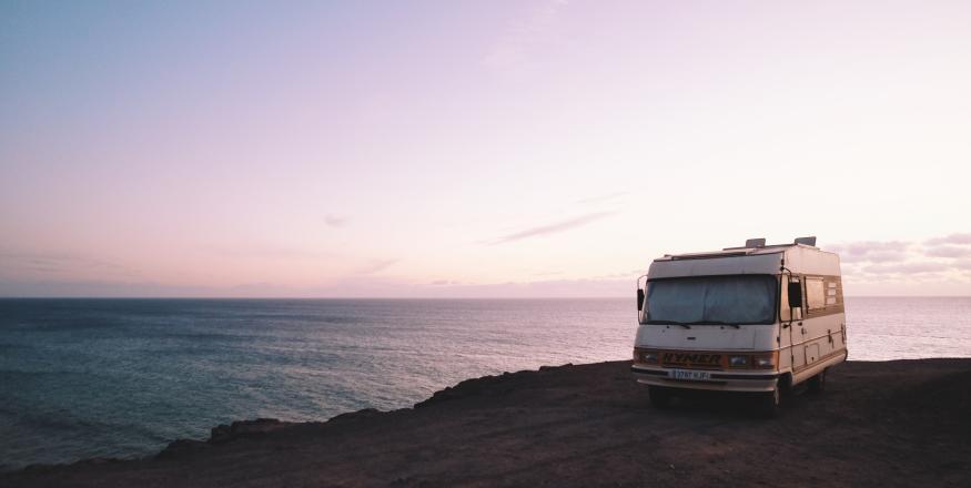 RV in El Cotillo Beach, La Oliva, Spain