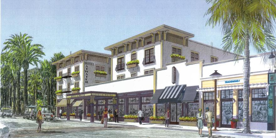 Rendering for Atwater Hotel on Catalina Island