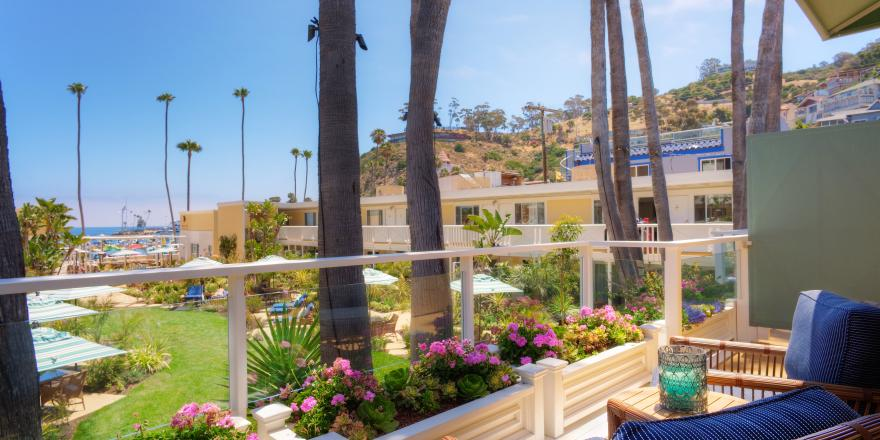 View from balcony of Pavilion Hotel on Catalina Island