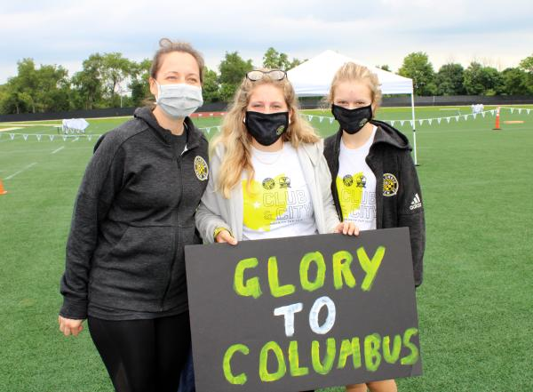 Community Cup Crew SC Team Photo with Sign
