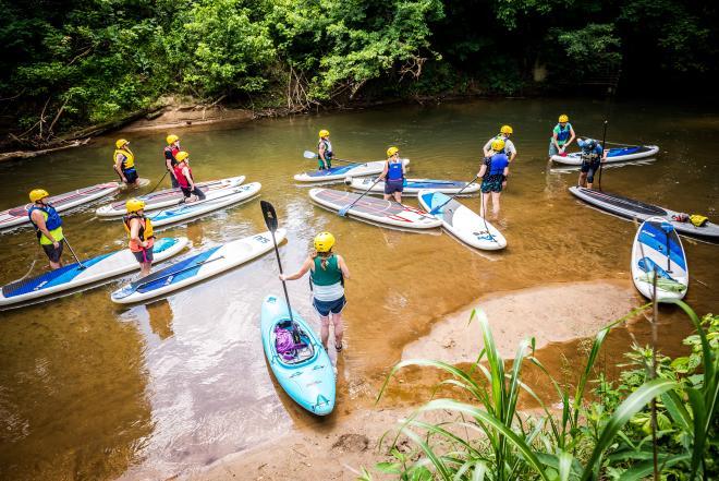 Standup Paddleboarding - Blackwater River - Franklin County, VA