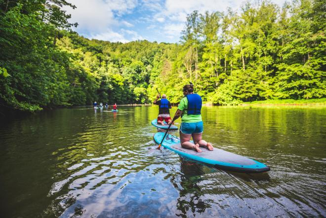Paddleboarding on Philpott Lake - Jamison Mill Park, Franklin County, VA
