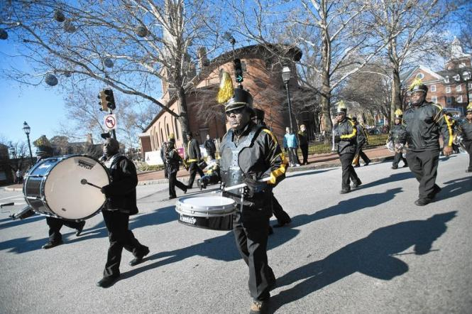 The MLK Day parade in Annapolis, MD.
