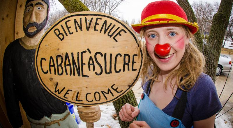 Manitoba Maple Syrup Sugaring Off Festival _cabane a sucre sign