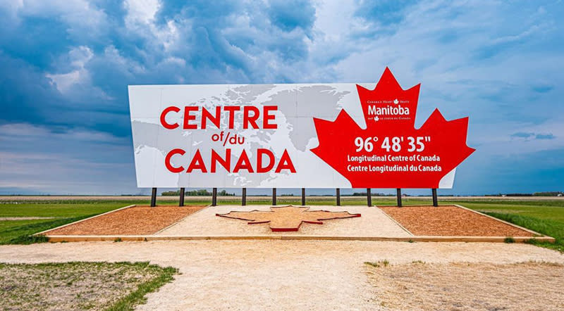 Centre of Canada Sign