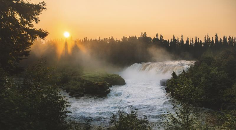 Pisew Falls  - Manitoba Virtual Background
