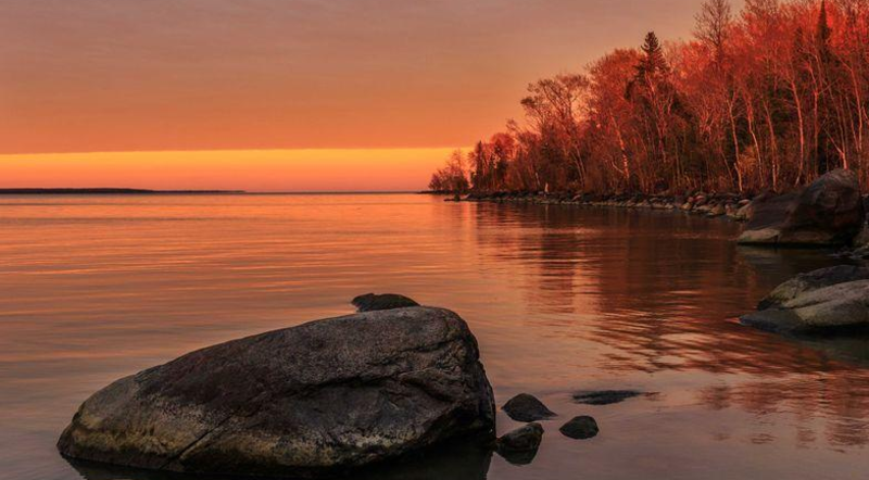 Sunset Beach, Hecla Island by Vijaya Chitnis