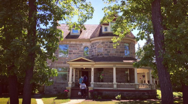 Exterior view of Bella's Castle Bed & Breakfast in Morden, Manitoba