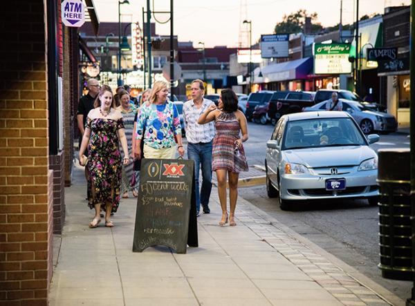 People Walking in Aggieville