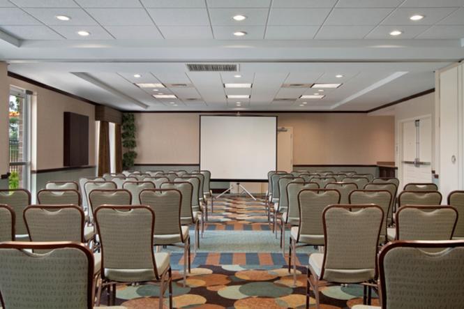 A meeting room at the Hilton Garden Inn