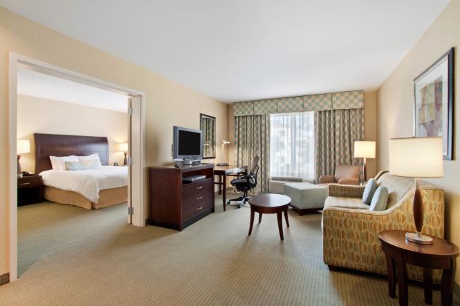 A King Suite at the Hilton Garden Inn Annapolis