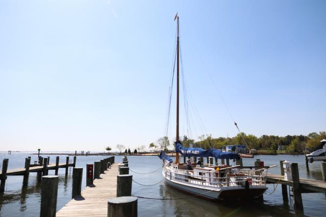 The wilma Lee at dock at the Annapolis Maritime Museum