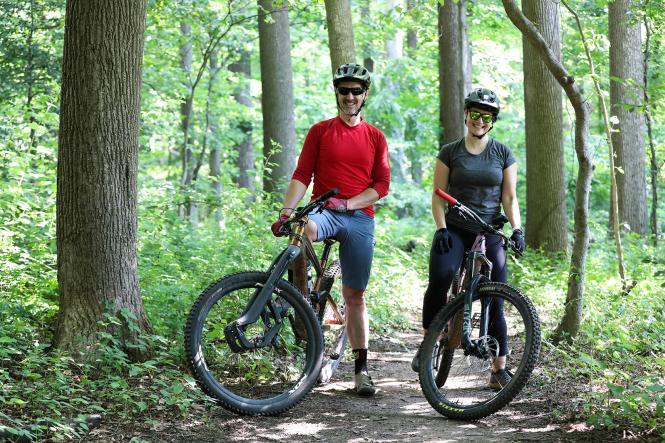 Bikers at Bacon Ridge Trail