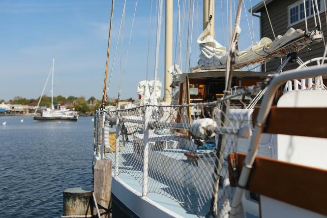 A view from the Liberté into the Annapolis Harbor.