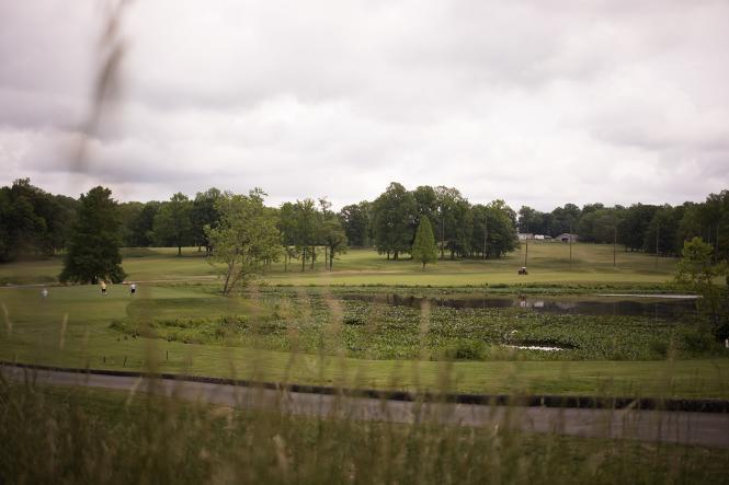 Golfers at Eisenhower Golf Course