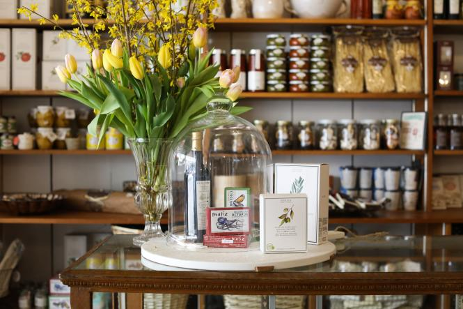 Pantry items line the walls of Vignette.