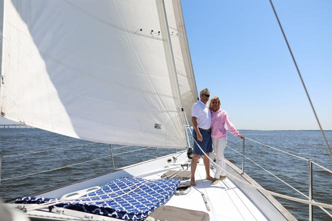Chris Bell and Susan Rosepepe of Seas the Bay Sailing Charters