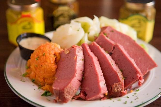Corned Beef and Cabbage at Galway Bay.