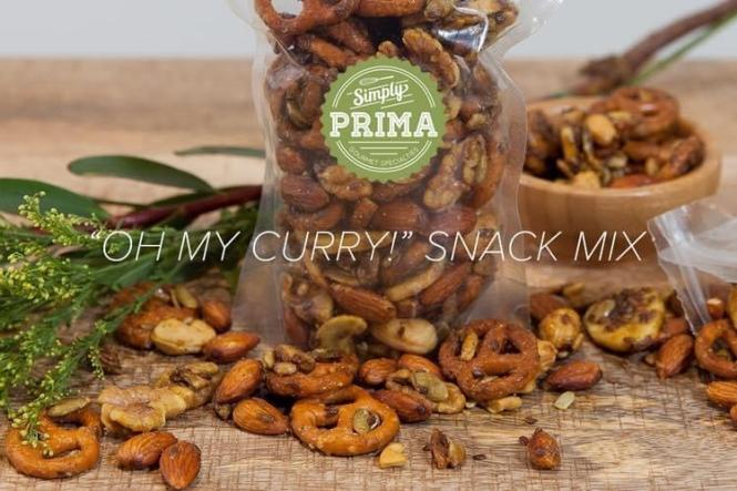 Oh My Curry Snack mix from Simple Prima.