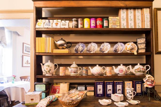 Tea room at Reynolds Tavern.