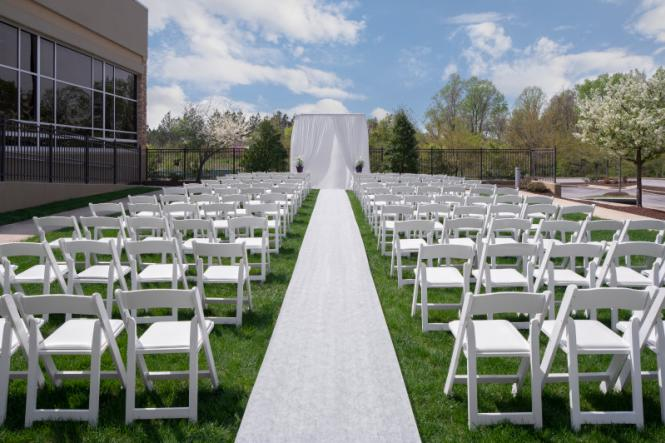 Wedding ceremony set up at the Westin BWI.