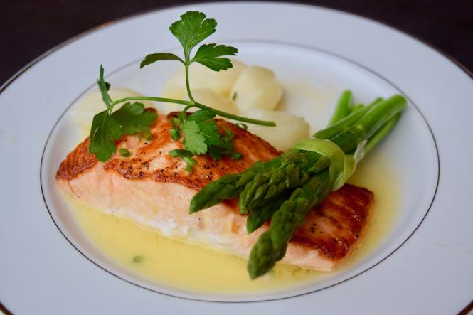 Salmon and asparagus by Ken's Creative Kitchen
