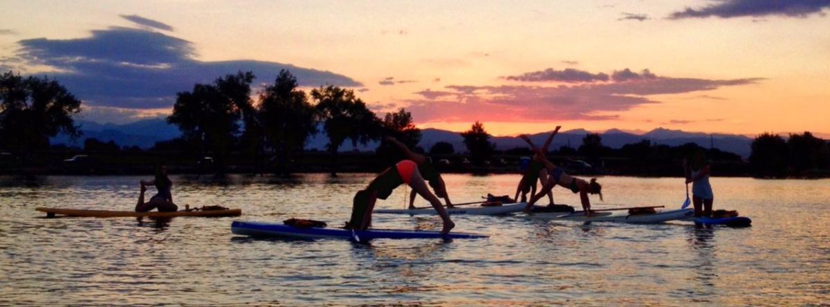 Rocky Mountain Paddleboarding Yoga