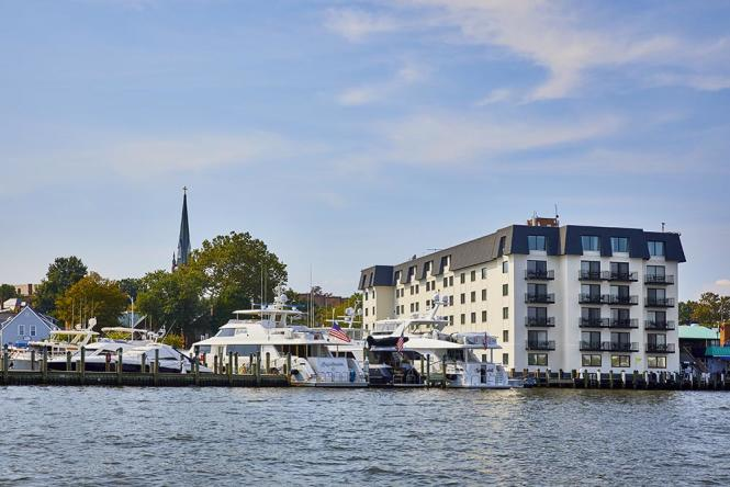 Annapolis Waterfront Hotel, water view.