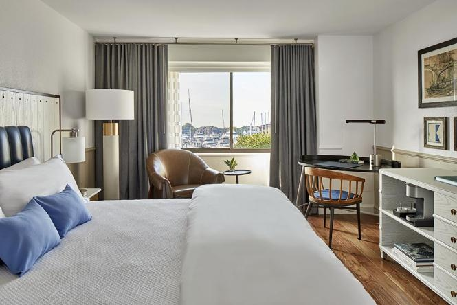 Annapolis Waterfront Hotel King guestroom.