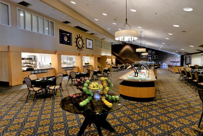 Dining hall at the Maritime Conference Center.