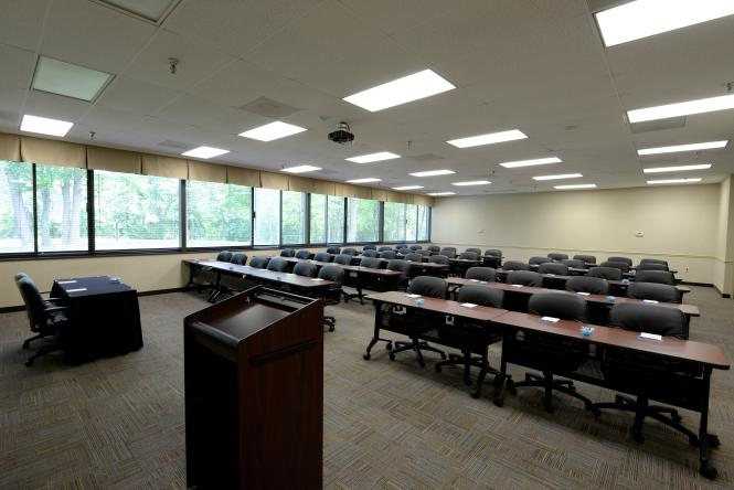 A conference room at the Maritime Conference Center.
