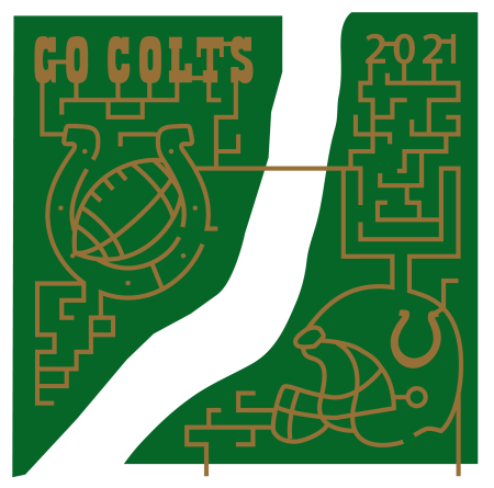 Cheer for the Indianapolis Colts at Hogan Farms! (Photo courtesy of Hogan Farms Pumpkin Patch & Corn Maze Facebook page)