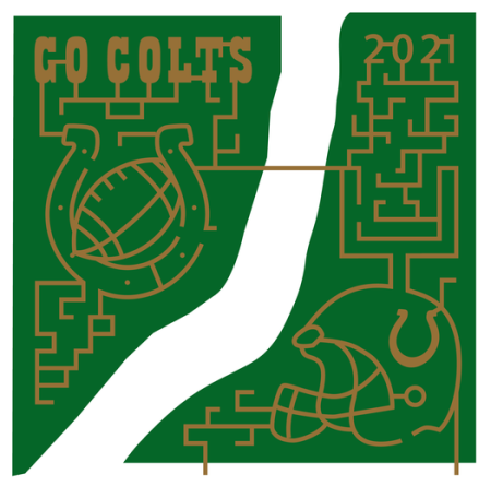 Go Colts, Corn Maze, Hogan Farms