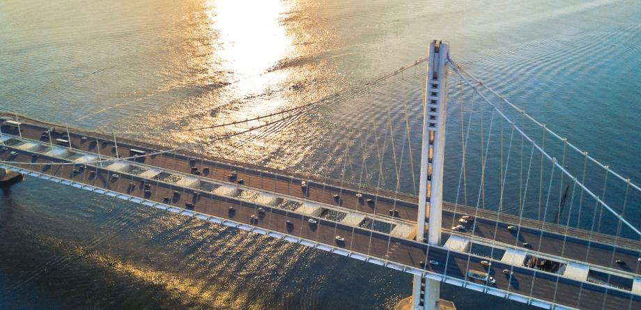 Bay Bridge aerial
